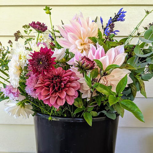 Fall Dahlia Bouquets: 4 weeks