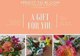 Sprout to Bloom printable giftcard