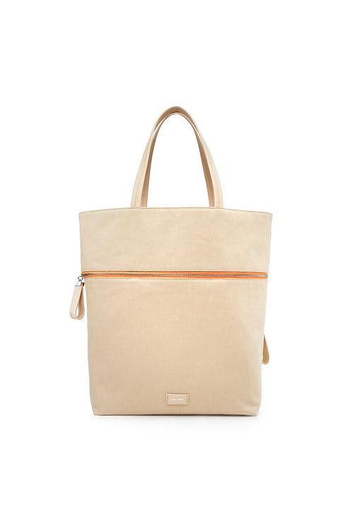 Le Téméraire - Un sac oversize et un grand cabas en toile coton beige
