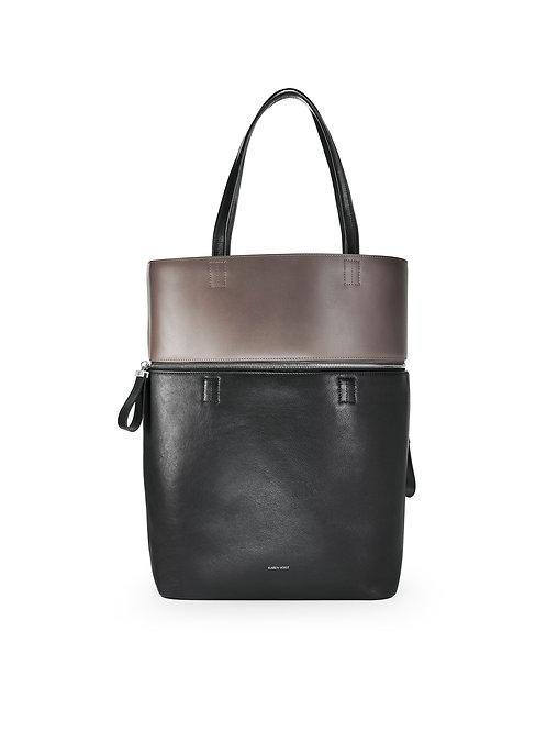 Le Généreux - Un sac oversize et un grand cabas en cuir bicolore