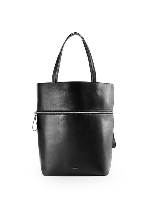 Le Généreux - A Carry-all and a tote bag in smooth black leather