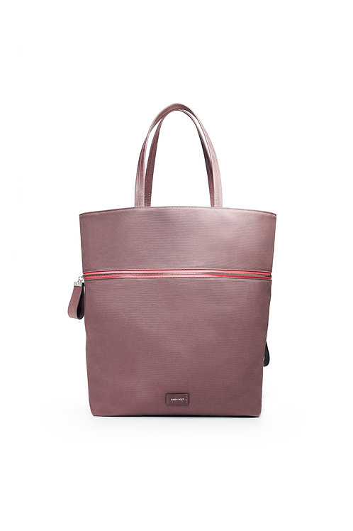 Le Téméraire - the reckless - A carry-all and a tote bag made of grey mountbatten cotton canvas