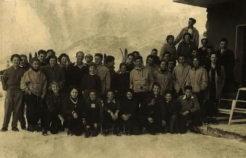 Equipe Jeunes du RCF Courchevel Noel 1955