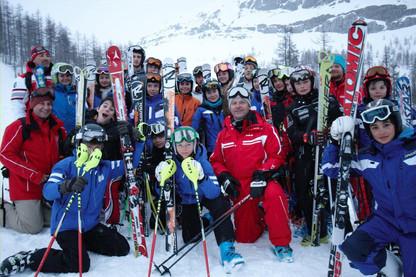 Stage d'entrainement du RCF à Val d'Isère en décembre 2013 - autour de Thierry Schoen