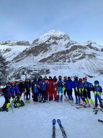 Val d'Isère janvier 2021 stage RCF entrainement jeunes