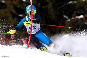 Léo Ginesty - SL Ski d'Or Morzine 2019 crédit Agence ZOOM