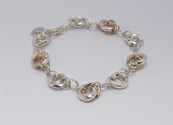 Bracelet in mixed metal