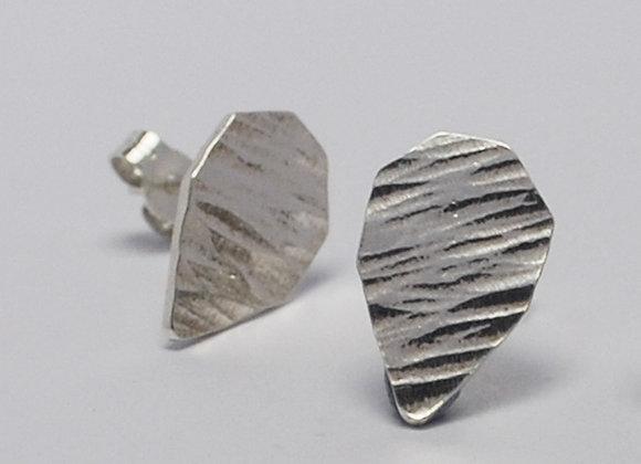 Textured Septangle stud earrings