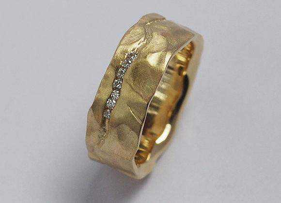 Gold Diamond Canyon Ring