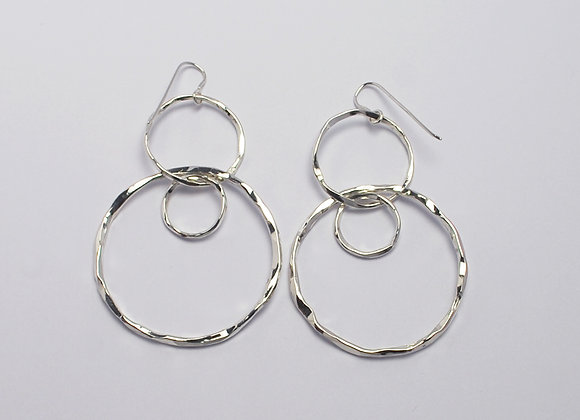 Large dangly circle earrings
