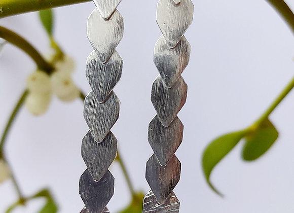 Overlapping earrings