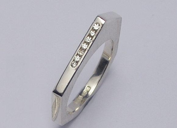 Diamond Septangle ring
