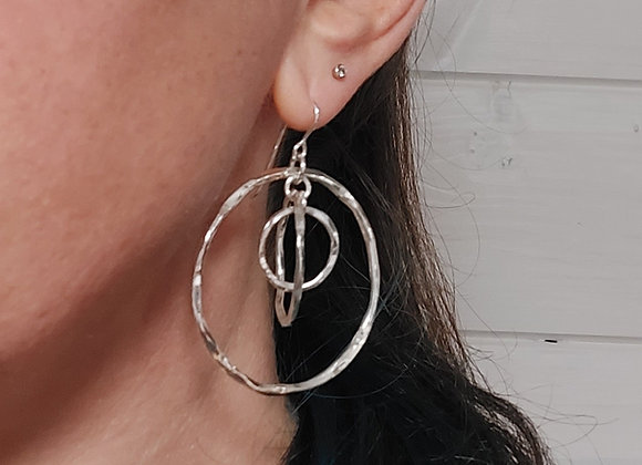 Large circle in circle earrings