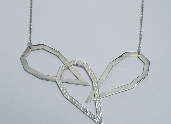 Three Septangle necklace