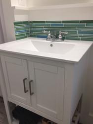 Sink with Subway Tile Backsplash