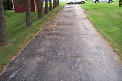 Cracked walkway before paving