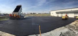 Large commercial parking lot