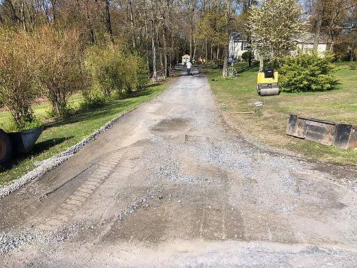Grading and Stoning Driveway