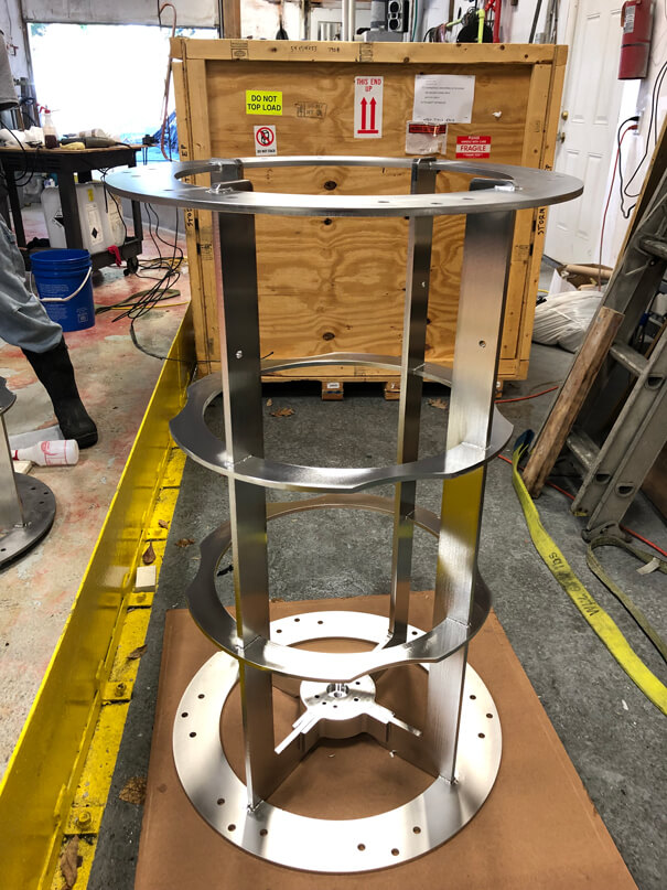 "24"" dia. X 48"" tall turntable rack"