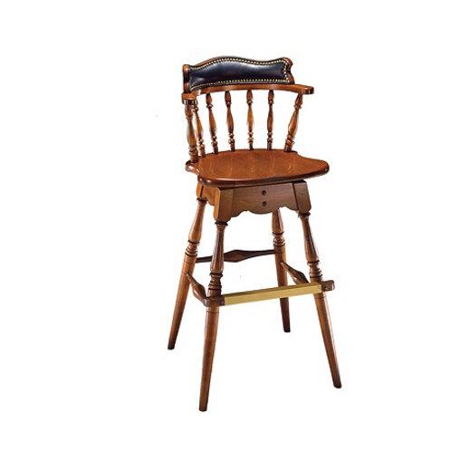 1778-2 Revolving Bar stool with upholstered back