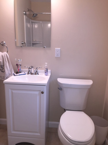Toilet and Sink with Vanity Installation