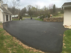 New installed driveway