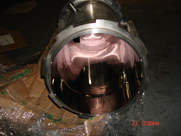 #8 ID finish of Pressure Vessel
