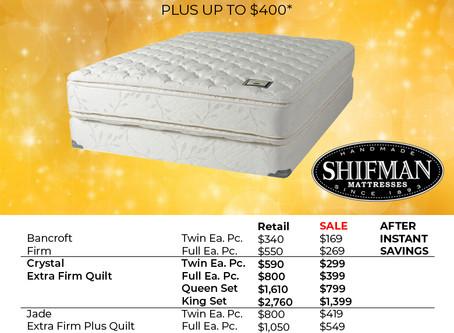 2019 Shifman Mattresses Sale