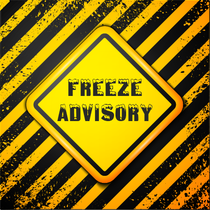 Freeze Advisory Over the Next 3 Days