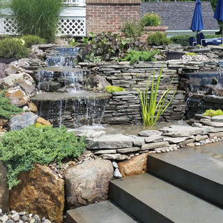 Landscaping and Pondless waterfall Installation
