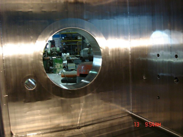 Polished ID of Vaccum Chamber