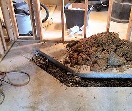 Basement Drain Pipe Repair