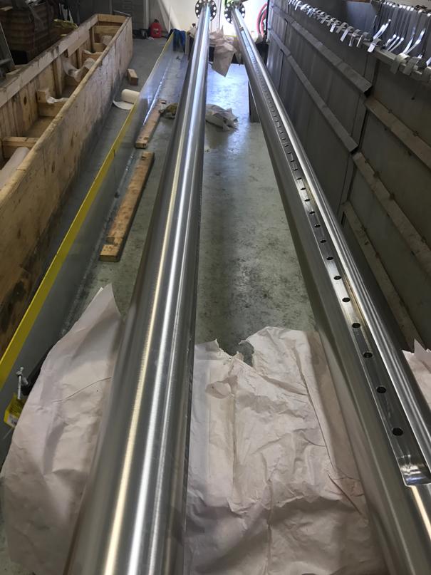 Electropolishing 2 Shafts - 30RA