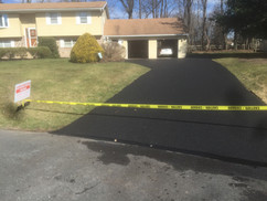 Driveway roped off with caution tape