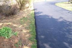 Closeup of edging detail on driveway