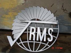 Polished Glass Beaded Corporate Logo