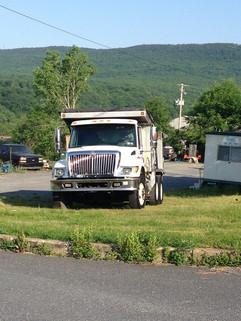 Closeup of Richard Diehl Paving truck