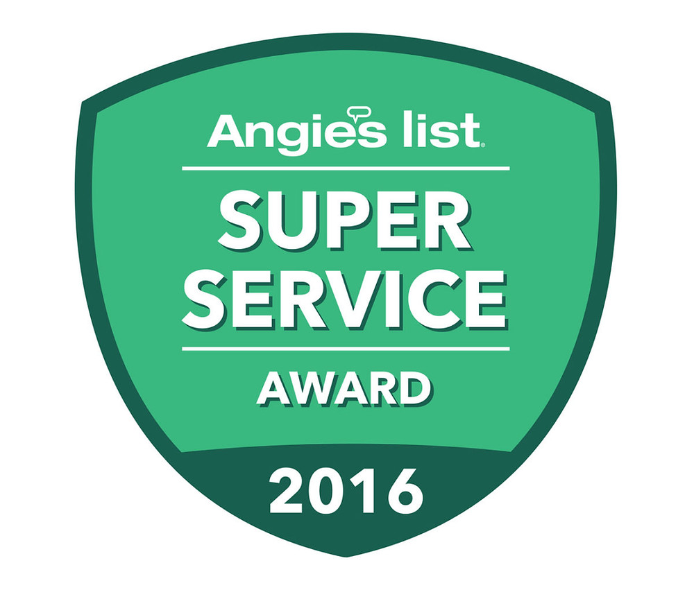 Awarded The Super Service Award by Angies list 2016