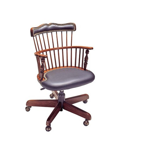 1842S1 Royal Governor Arm exec/tilt/swivel Chair w/upholstered seat & back