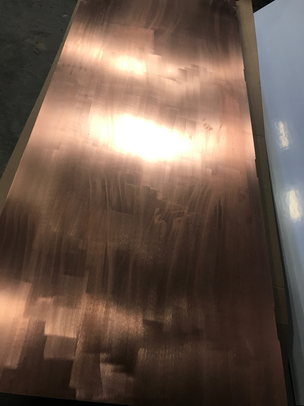 BEFORE - Copper door from customer