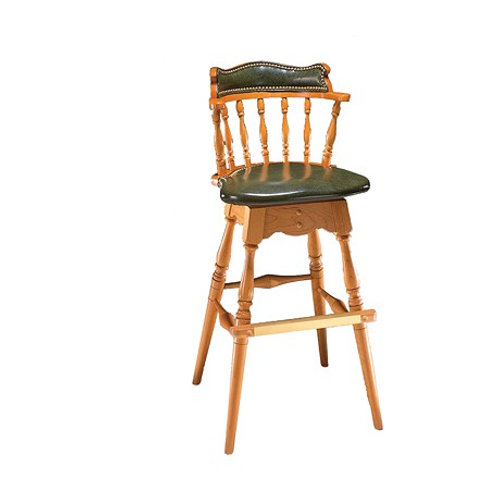 1778-1 Revolving Bar stool w/upholstered seat & back