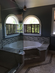 Bathtub with Marble Top and Steps
