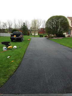 Driveway paved