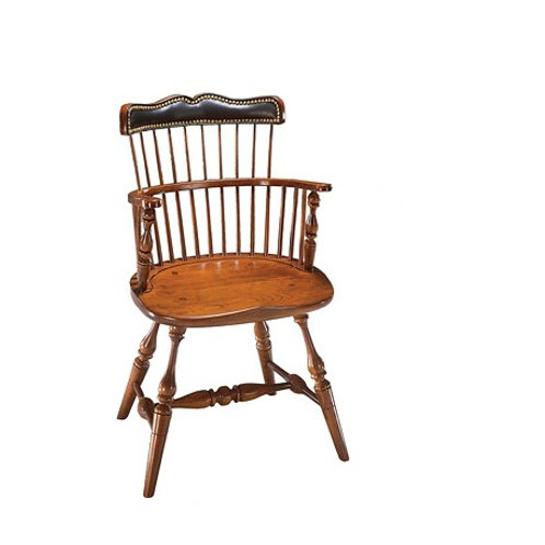 1842 Royal Governor Arm Chair with upholstered back