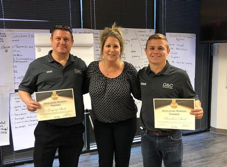 "Announcement: G&C Plumbing Staff Pass Certification Workshop, ""Developing Winning Trainers"""