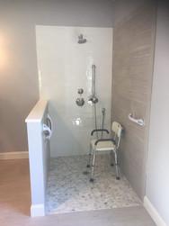 Handicap Bathroom Shower Installation