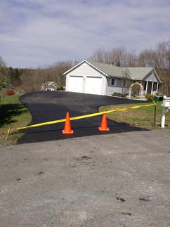 Driveway leading to garage