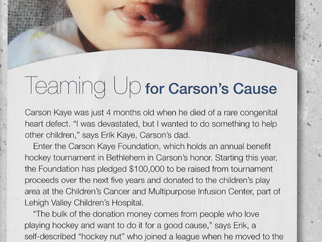 Teaming up for Carson's Cause