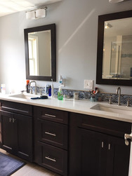 Double Vanity with Sink Fixtures Install