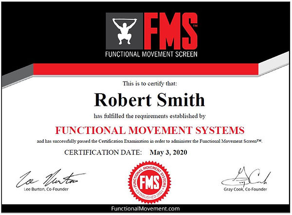Robert Smith Funcational Movement System